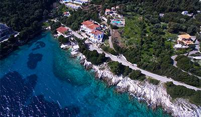 Fiskardo Martini Waterfront Suites aerial view